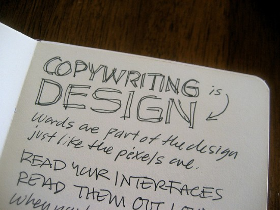 copywriting is design